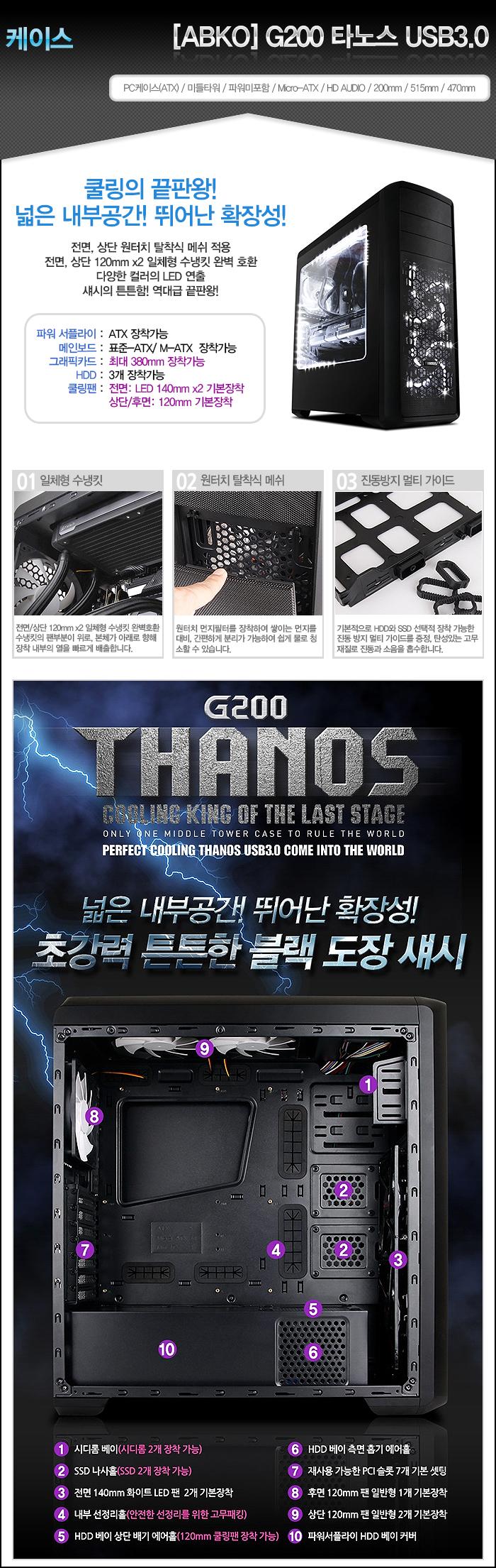 [ABKO] NCORE G200 타노스 USB3.0