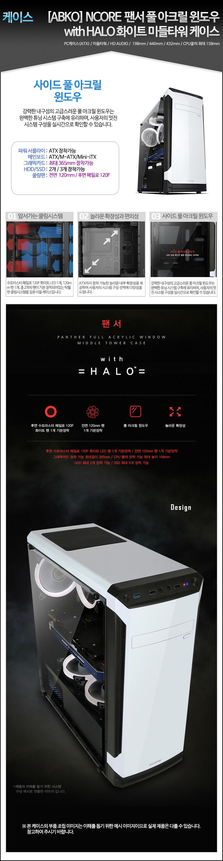[ABKO] NCORE 팬서 풀 아크릴 윈도우 with HALO 화이트