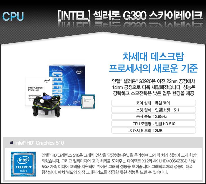 재고없음 [인텔] G3920 듀얼코어 (2.9G) 대리점 정품