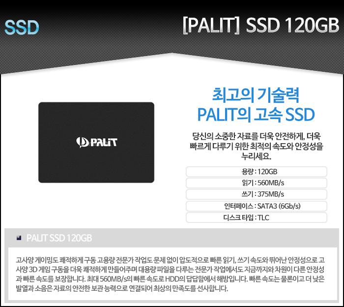 [PALIT] SSD (120GB) 이엠텍